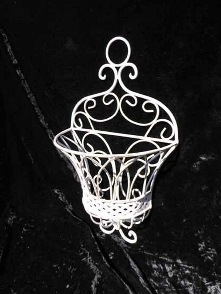 Blumenkorb - Wandkorb Shabby Chic / Antik Stil - Pflanzgefäße - Bild 1