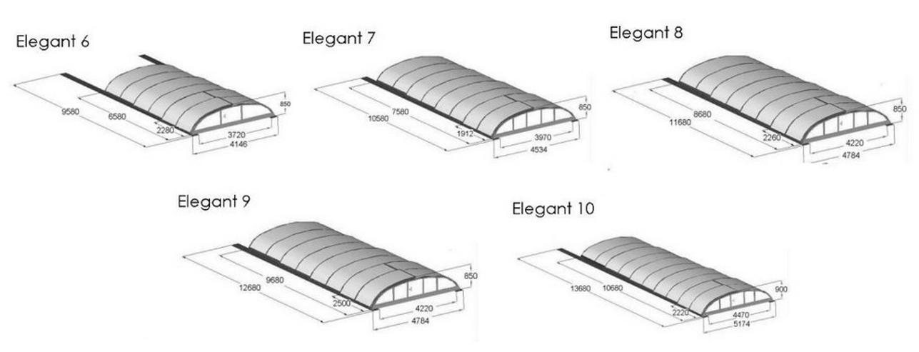 Bild 6: Pool Überdachung Elegant 8, Schiebendach!!!