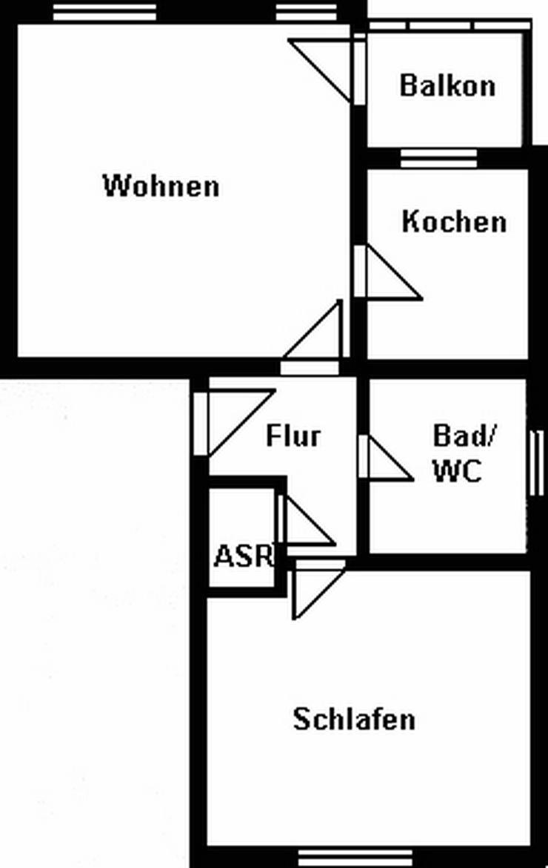 Gemütliche 2-Raum-Wohnung mit Balkon!