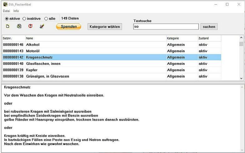 Windows-Programm EVA-Fleckenfibel