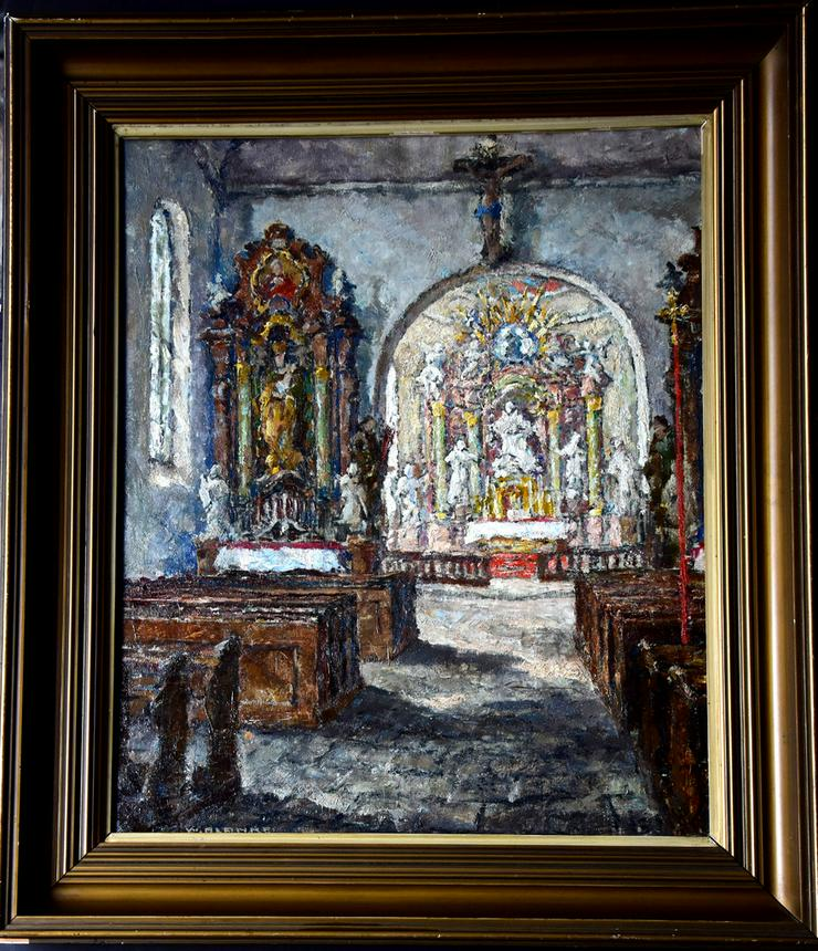 Gemälde WILHELM BLANKE (1873), Barocke Kirche