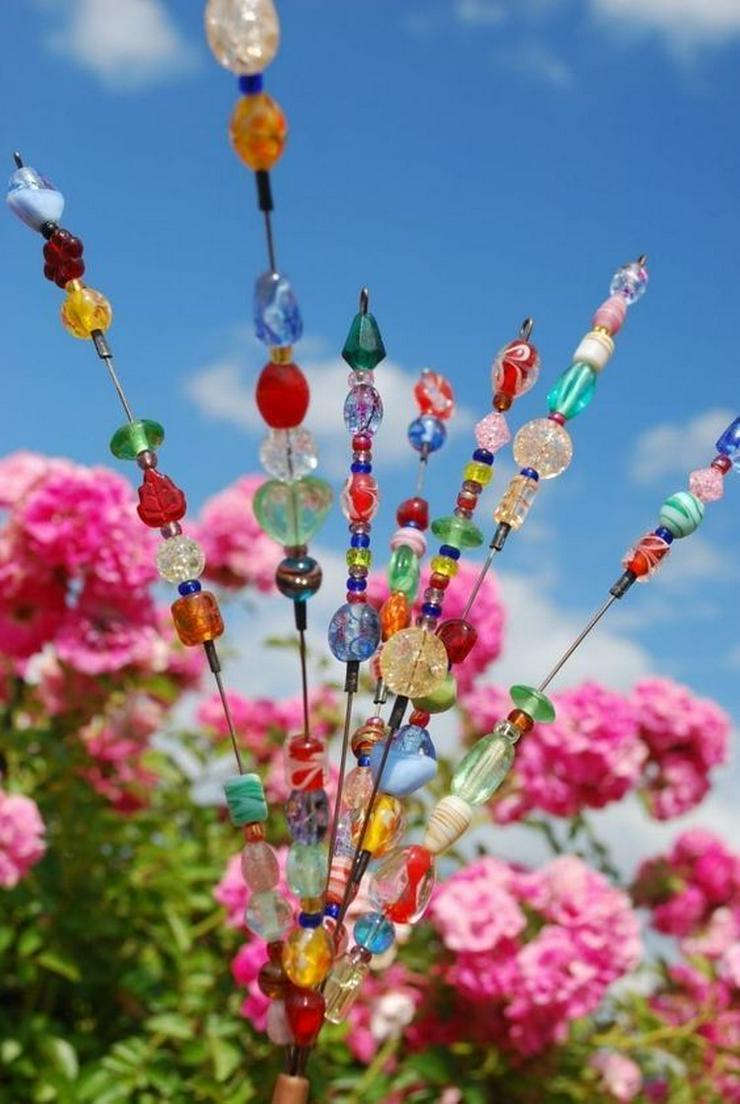 Perlen aus Glas für Gartengestaltung