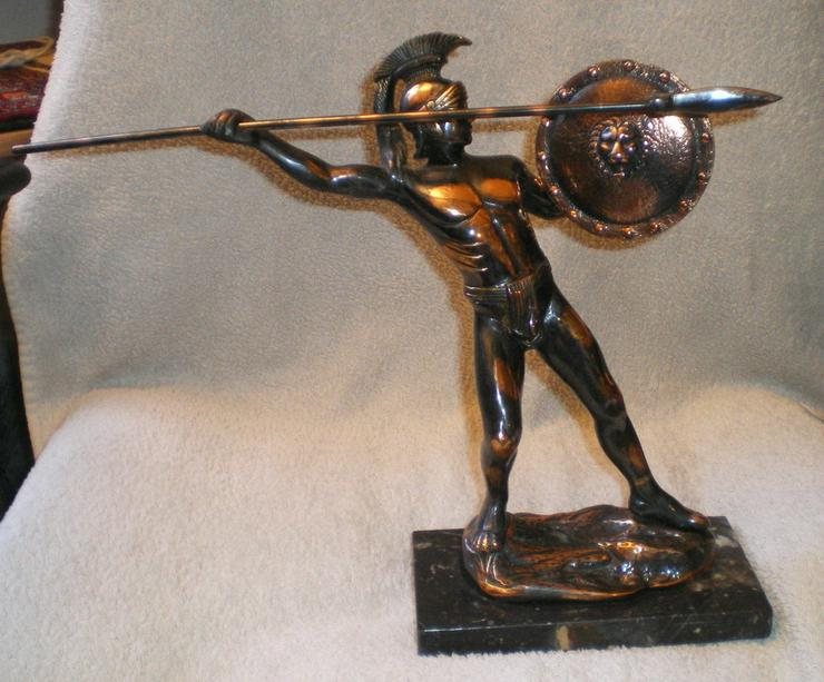 Skulptur - Figur Leonidas von Sparta Kupfer VB
