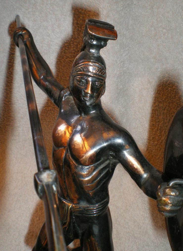 Bild 5: Skulptur - Figur Leonidas von Sparta Kupfer VB