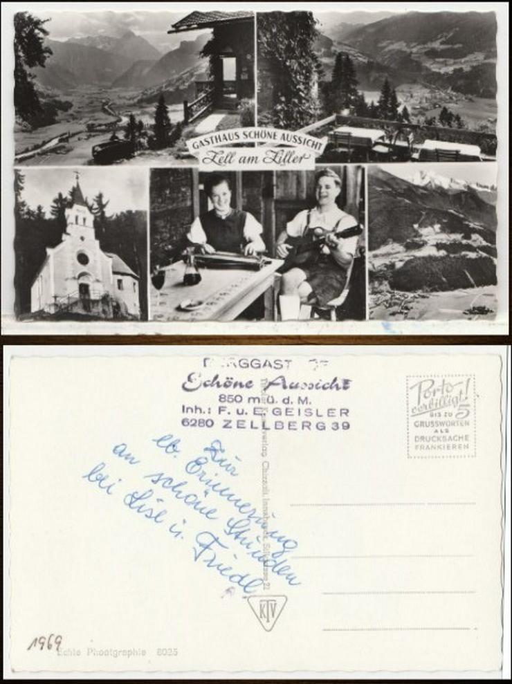 Postkarte, Schöne Aussicht, Zell am Ziller