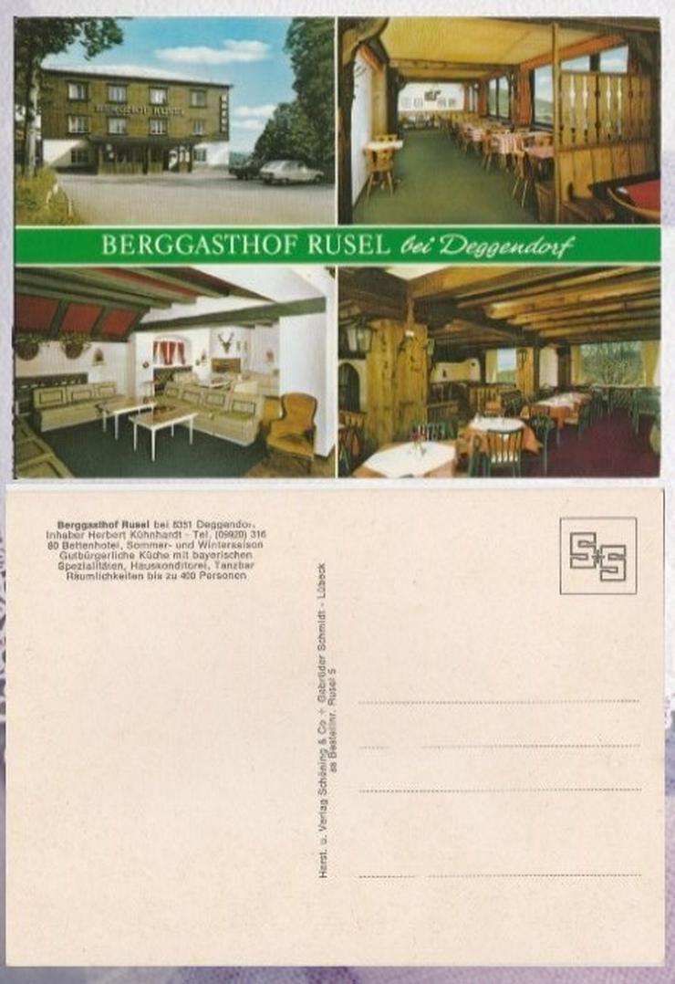 Postkarte, Berggasthof Rusel bei Deggendorf