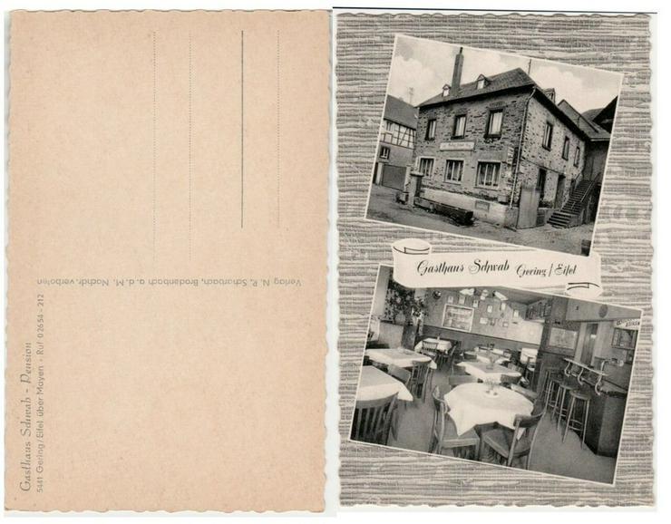 Postkarte, Gasthaus Schwab Gering/Eifel