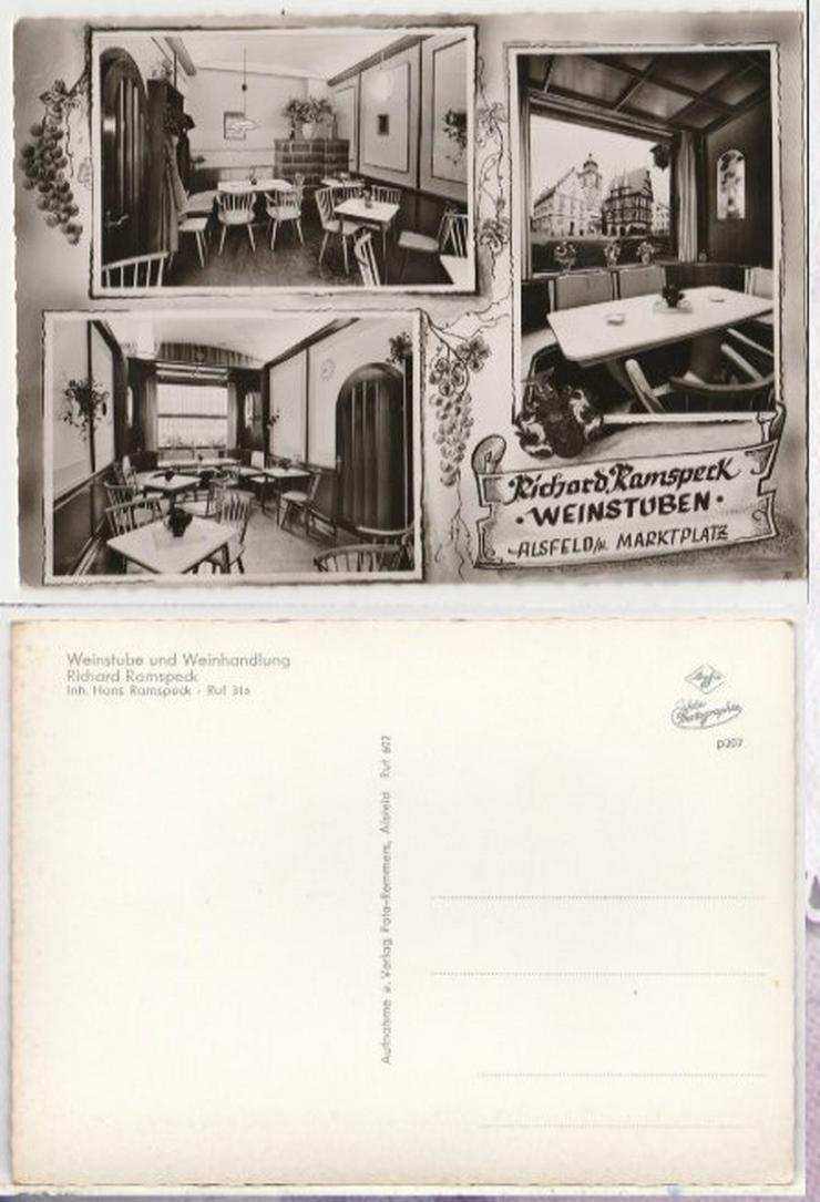 Postkarte, Weinstube Richard Ramspeck Alsfeld