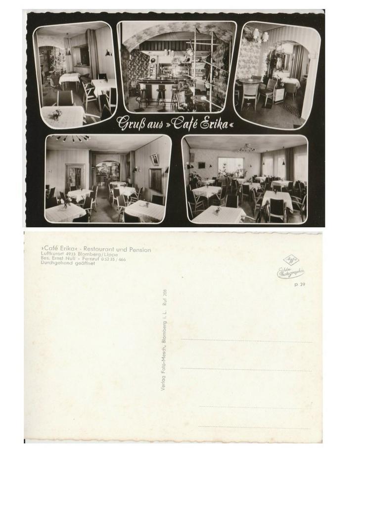 Postkarte,? Cafe Erika?, Blomberg / Lippe