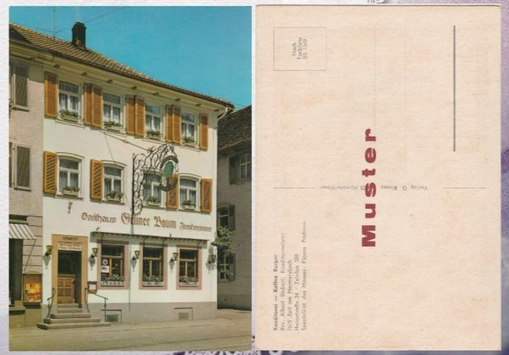 Postkarte,Konditorei Burger ,Zell am Harmersba