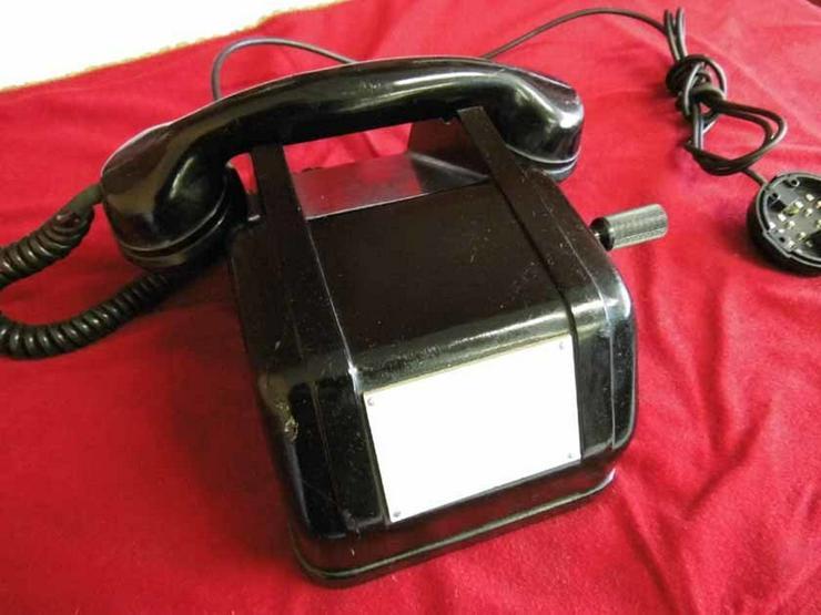 Bakelittelefon mit Generator für netzunabhängi