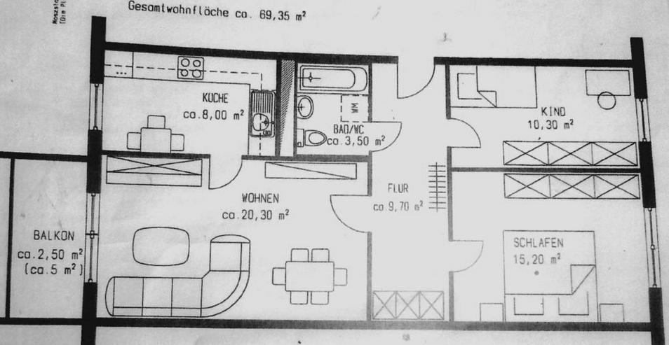 Bild 3: KAPITALANLAGE - 3 Raum-Wohnnung in einem modernisierten Wohnblock in Leipzig