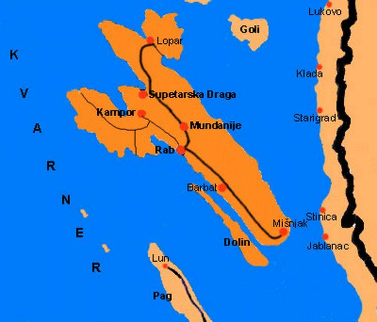 Bild 3: Baugrundstück zum Verkauf, Insel Rab, Kroatien