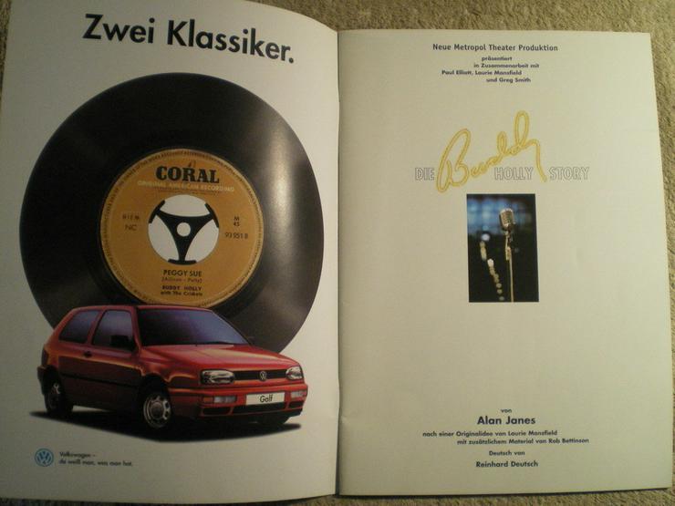 Bild 3: Buddy Holly Story Musical 1996 Hamburg (FP) noch 1 x Preis runter gesetzt !