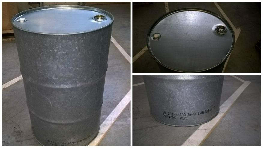 Bieten verzinkte Sickerspundlochfässer an! - Paletten, Big Bags & Verpackungen - Bild 1