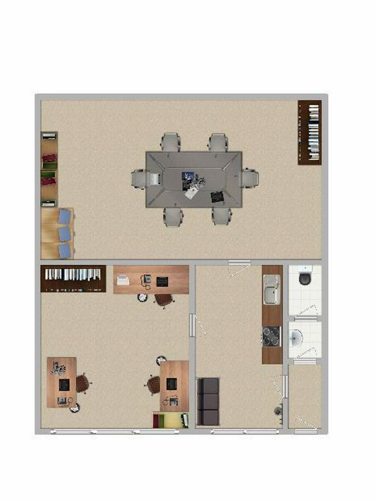 Zwei Büro- oder Kursräume mit separatem Eingang - Gewerbeimmobilie mieten - Bild 1