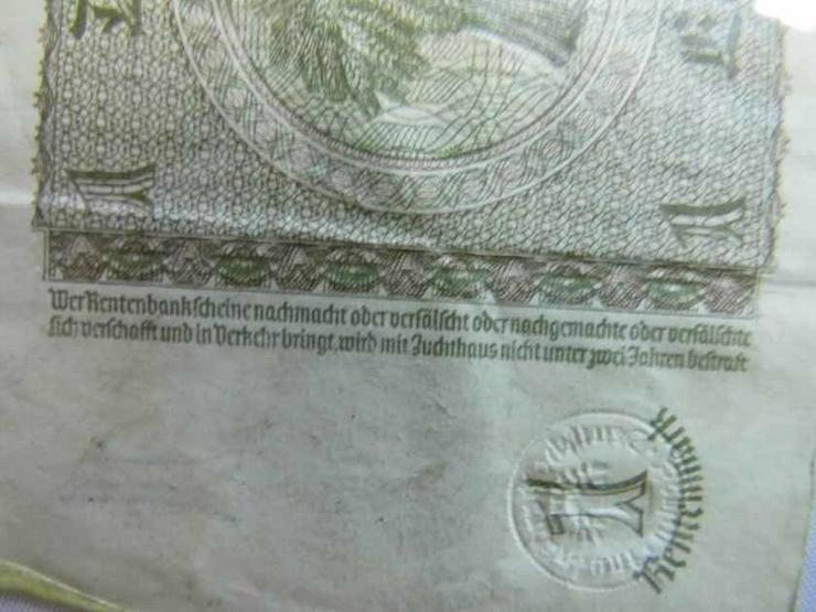 Bild 6: 4 x Eine Rentenmark 1937 mit Kupon 1948 / DDR,
