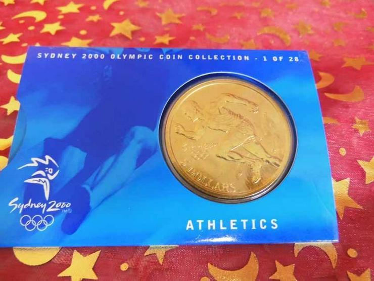 5 Dollars Sydney 2000 CoinCard / Olympia / LEI - Weitere - Bild 1