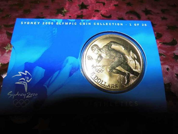Bild 2: 5 Dollars Sydney 2000 CoinCard / Olympia / LEI