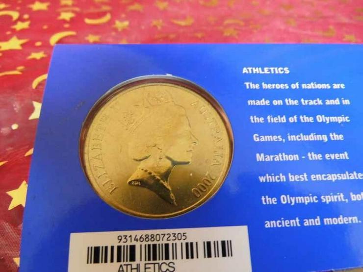 Bild 3: 5 Dollars Sydney 2000 CoinCard / Olympia / LEI