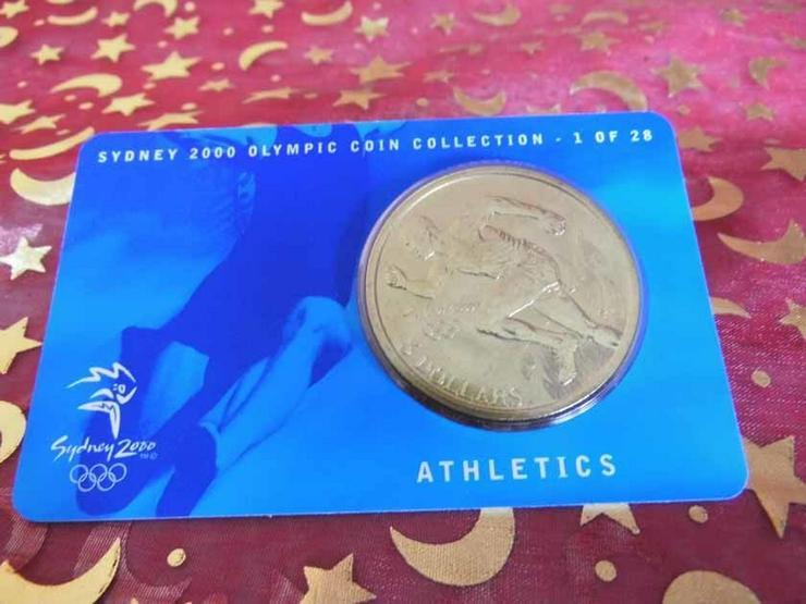 Bild 6: 5 Dollars Sydney 2000 CoinCard / Olympia / LEI