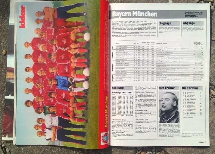 Bild 2: Kicker Bundesliga Sonderheft 80/81
