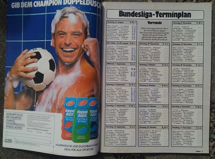 Bild 3: Kicker Bundesliga Sonderheft 82/83