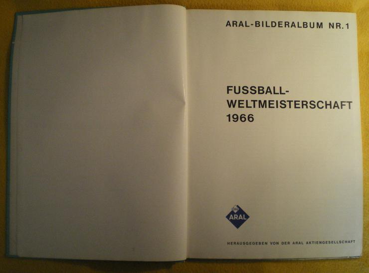 Bild 2: Sammelalbum Original WM 1966 von ARAL (FP)