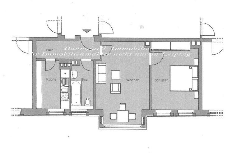 Bild 12: 2 Zimmerwohnung mit Einbauküche und großzügige Wohnraumaufteilung in Chemnitz