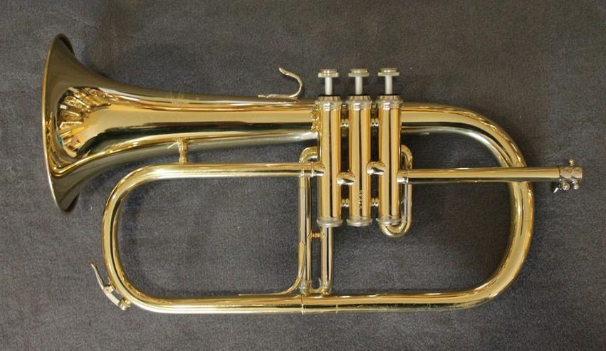 Bild 3: B & S Flügelhorn inkl. Koffer und Mundstück