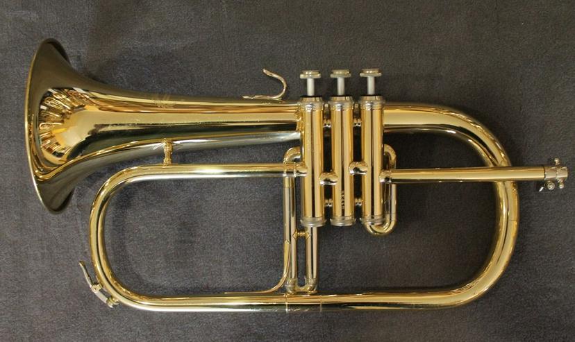 Bild 6: B & S Flügelhorn inkl. Koffer und Mundstück