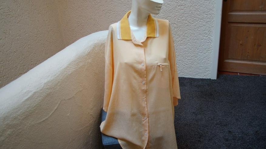 Bluse, Gr. 54/56, gelb-weiß, Senza Nome Weekend