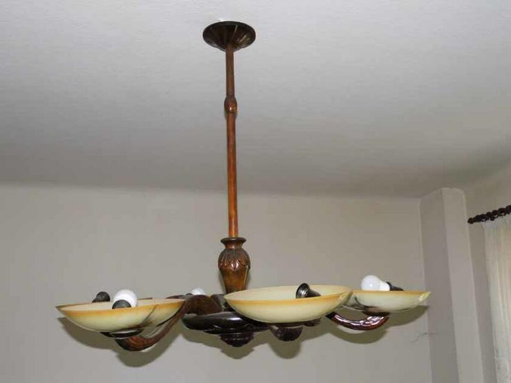 Antike Art Deco Lampe aus Holz / geschnitzte D in Zeuthen auf ...