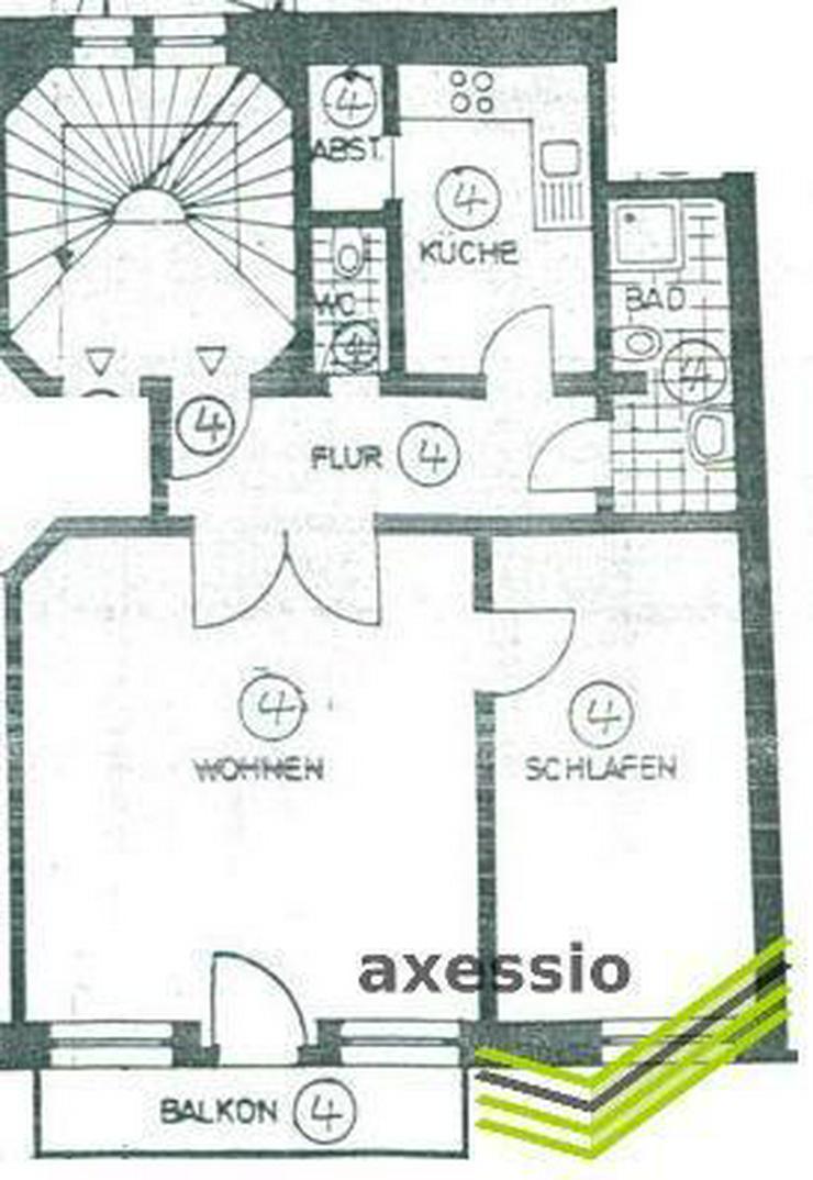 Bild 2: Mannheim-Quadrate: Wunderschöne 2-Zimmerwohnung im sanierten Denkmal mit BALKON!