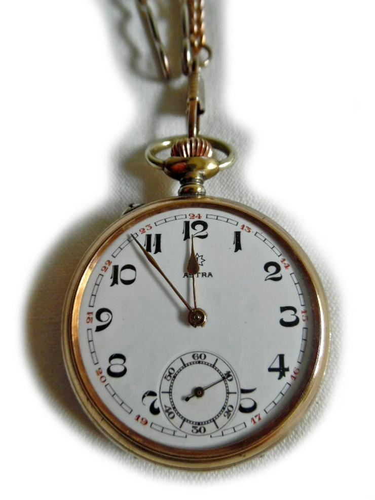 Bild 2: Schöne alte Taschenuhr von Junghans Astra
