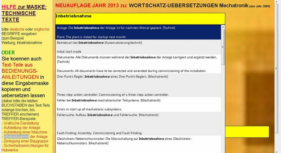 Bild 6: 2. Auflage: Technisches Woerterbuch + Saetze