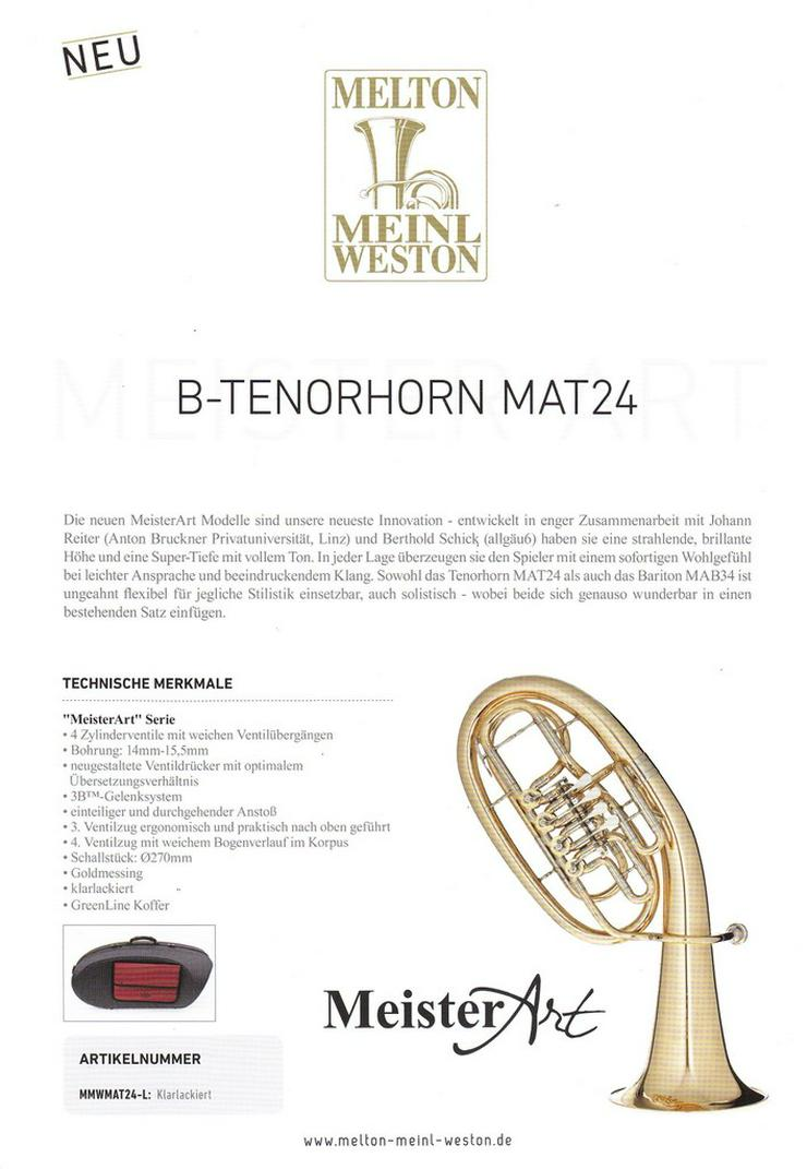 Bild 6: Melton MeisterArt Tenorhorn MAT24 Neuware / OVP