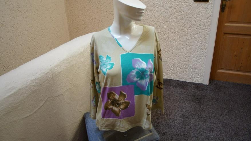 Shirt, Gr. 38, beige-flieder,türkis,MM, neu