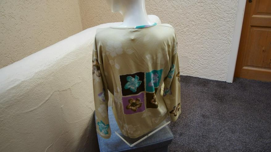 Bild 3: Shirt, Gr. 38, beige-flieder,türkis,MM, neu