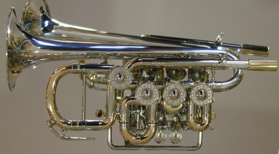 Bild 3: J. Scherzer Piccolotrompete Mod. 8111ST-L, Neu