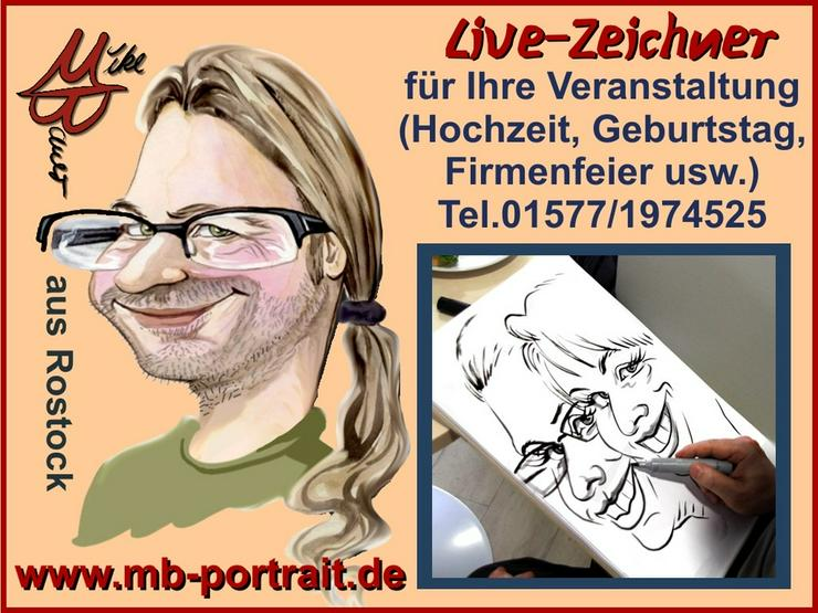 Schnellzeichner, Karikaturzeichner, Hochzeitszeichner, Messezeichner für Ihre Veranstaltung