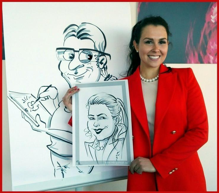Bild 3: Schnellzeichner, Karikaturzeichner, Hochzeitszeichner, Messezeichner für Ihre Veranstaltung