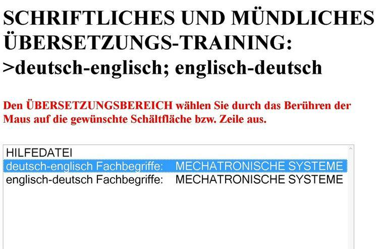 Bild 3: Schriftliche Uebersetzung englisch lernkarten
