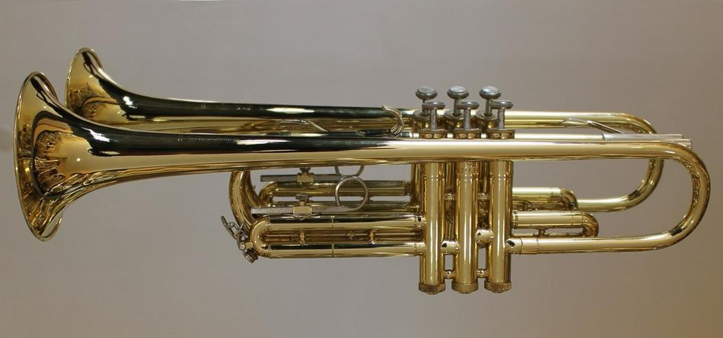Bild 5: Selmer U.S.A. B - Trompete, Messing lackiert