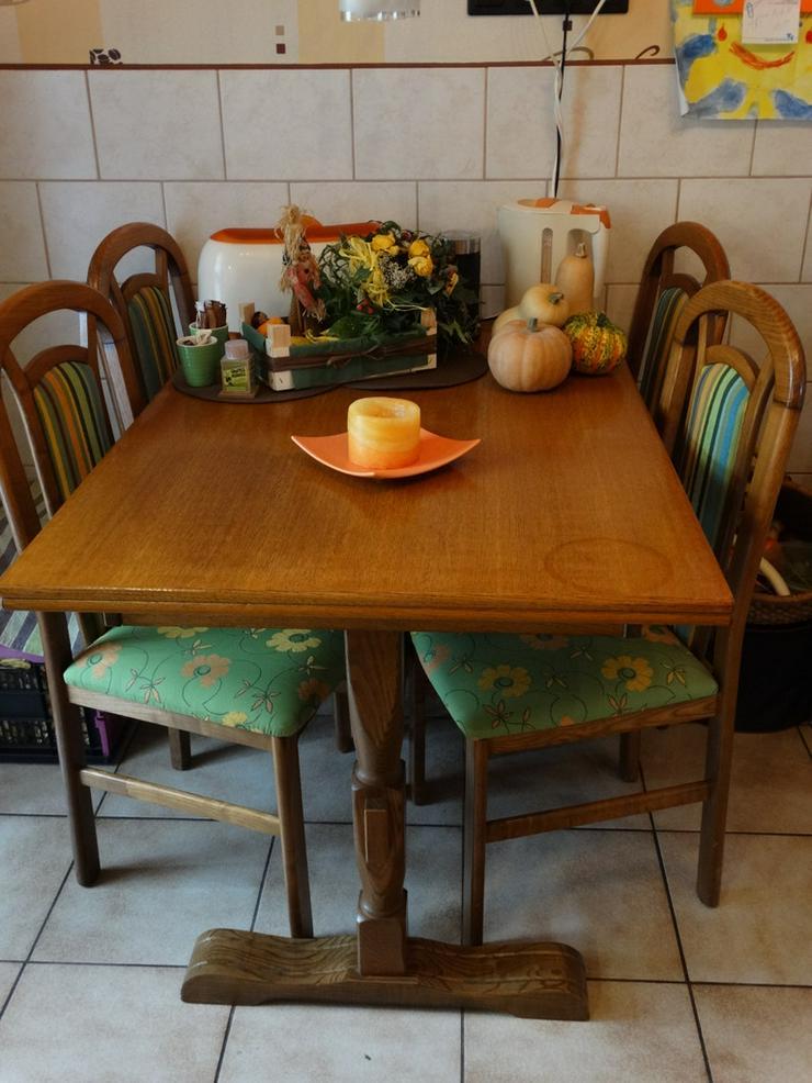 Ess-/Küchentischkombi,120x80,Eichel rustikal