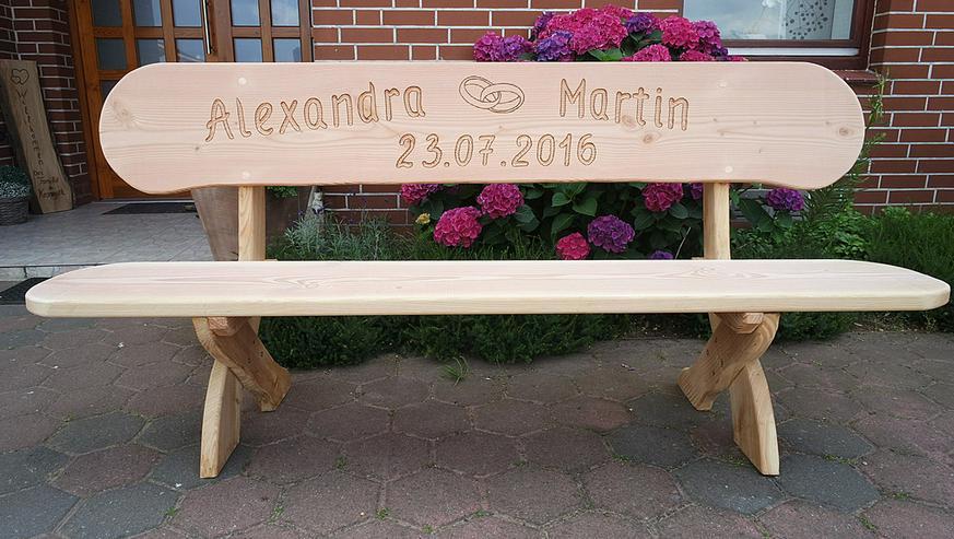 Bild 3: Hochzeitsgeschenk.Geburtstagsgeschenk.Holzbank.