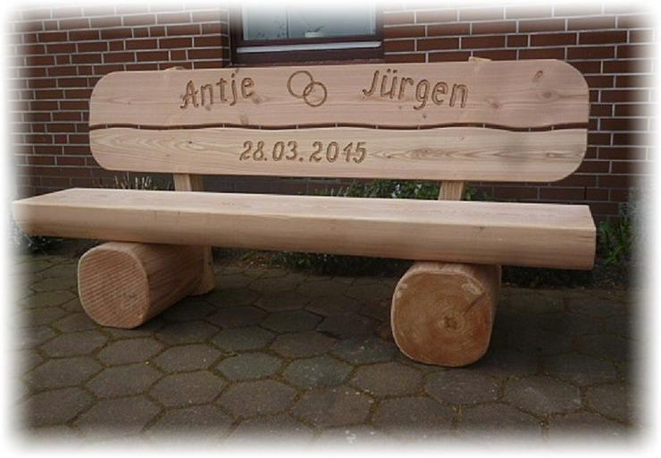 Bild 6: Hochzeitsgeschenk.Geburtstagsgeschenk.Holzbank.