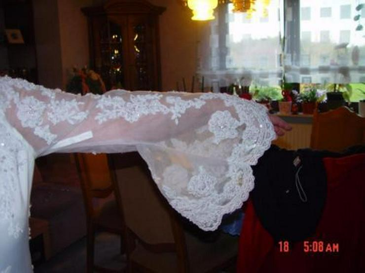Traumhaftes Brautkleid, Schleppe, Perlen