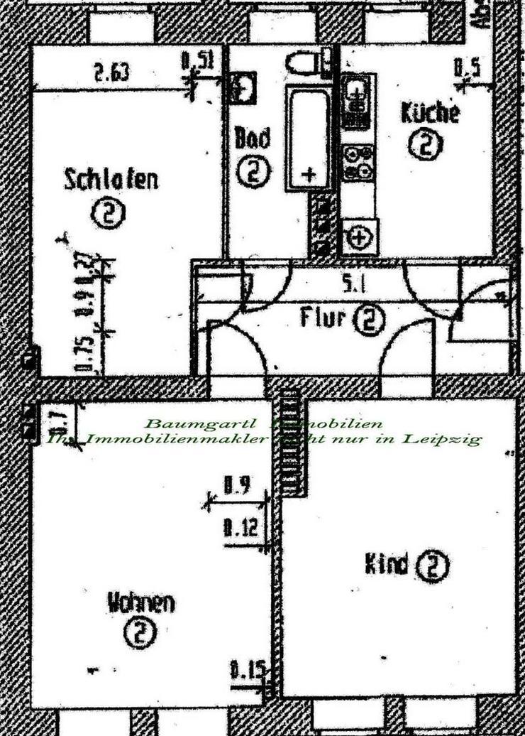 Chemnitz - 3 Zimmerwohnung im Erdgeschoss mit großzügiger Aufteilung und Terrasse - Wohnung mieten - Bild 1