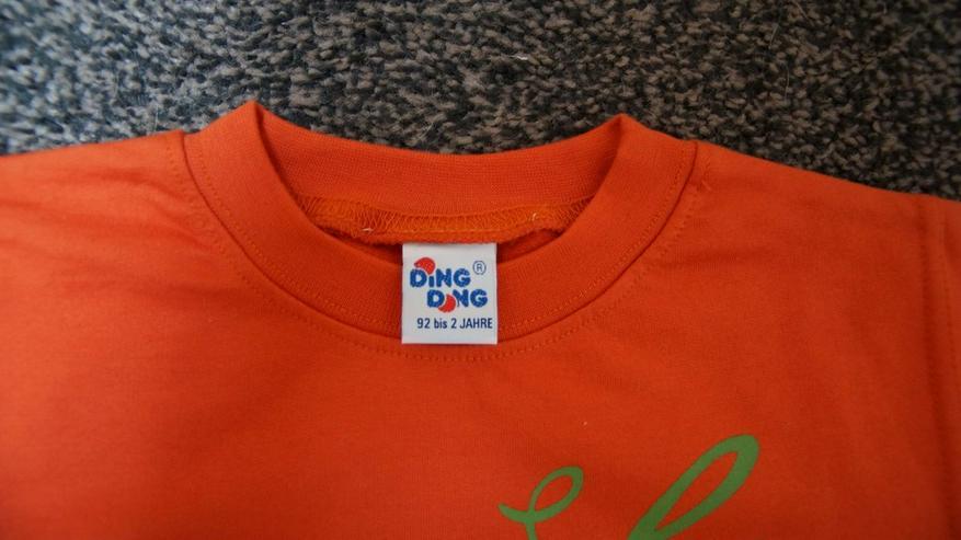 Bild 3: Sweat, Gr. 92, orange, DIng Dong, neu